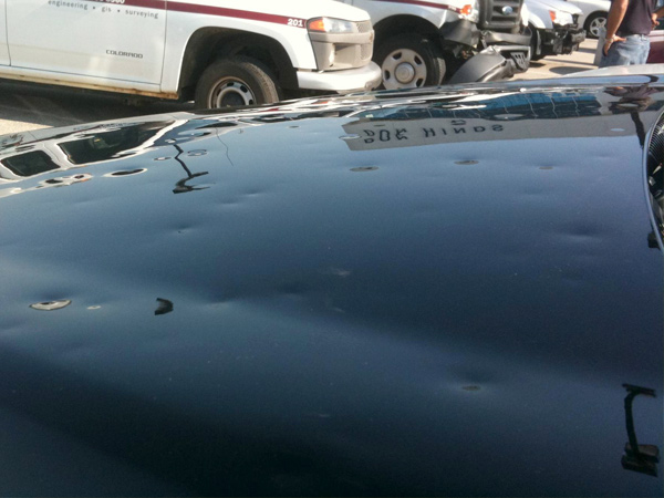 Hail Damaged Vehicle